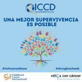 Cartel y lema para conmemorar el Día del Niño con Cáncer