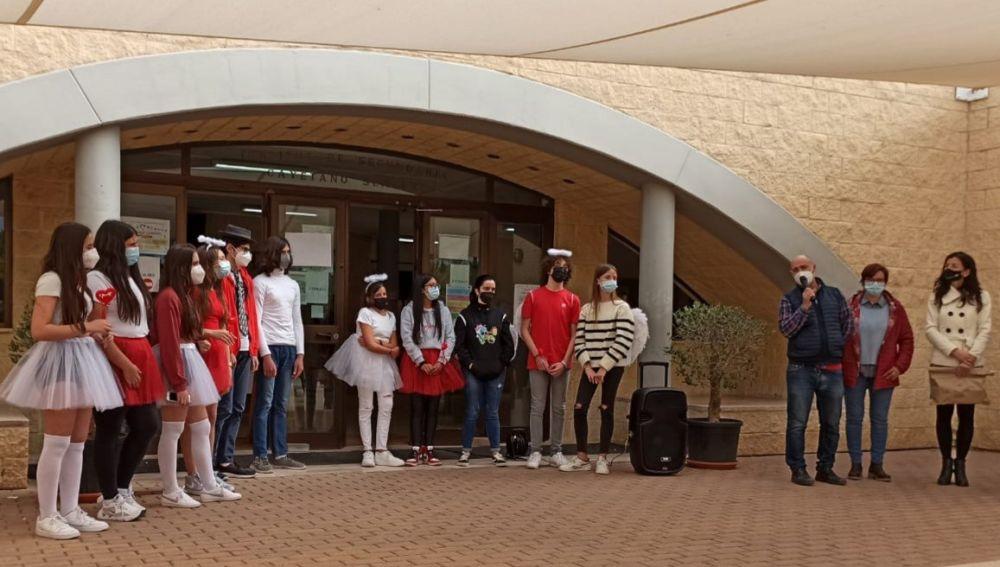 Alumnos del IES Cayetano Sempere de Elche que han participado en la iniciativa.