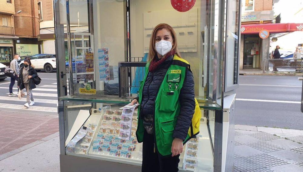 La vendedora de la ONCE Manuela Pozuelo