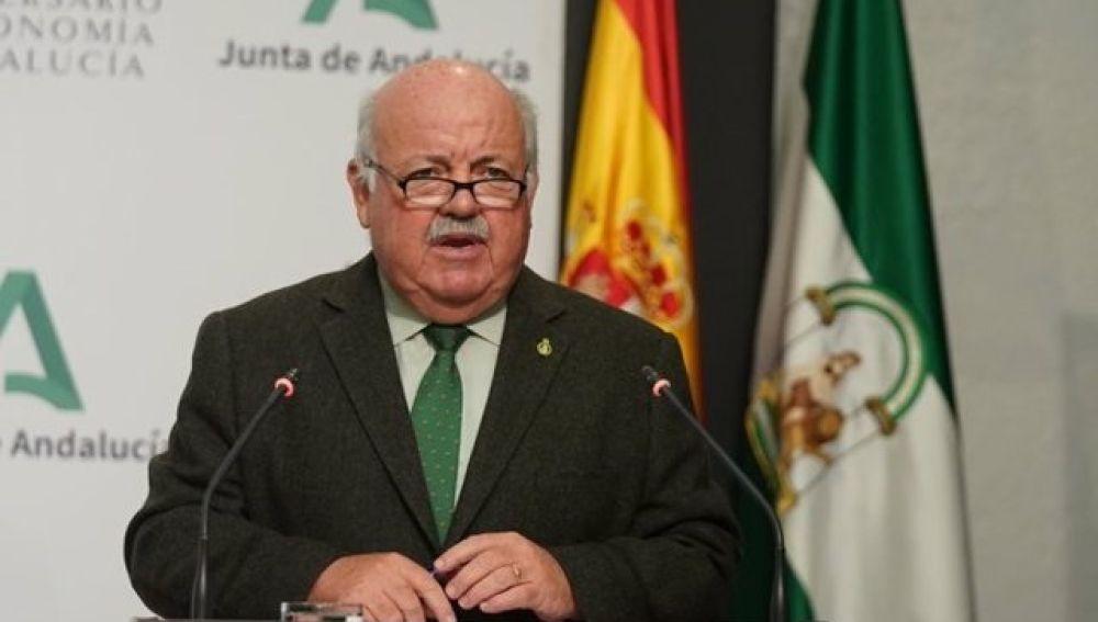 El consejero de Salud, Jesús Aguirre, en una imagen de archivo
