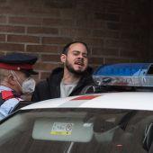 El rapero Pablo Hasel en el momento de su detención
