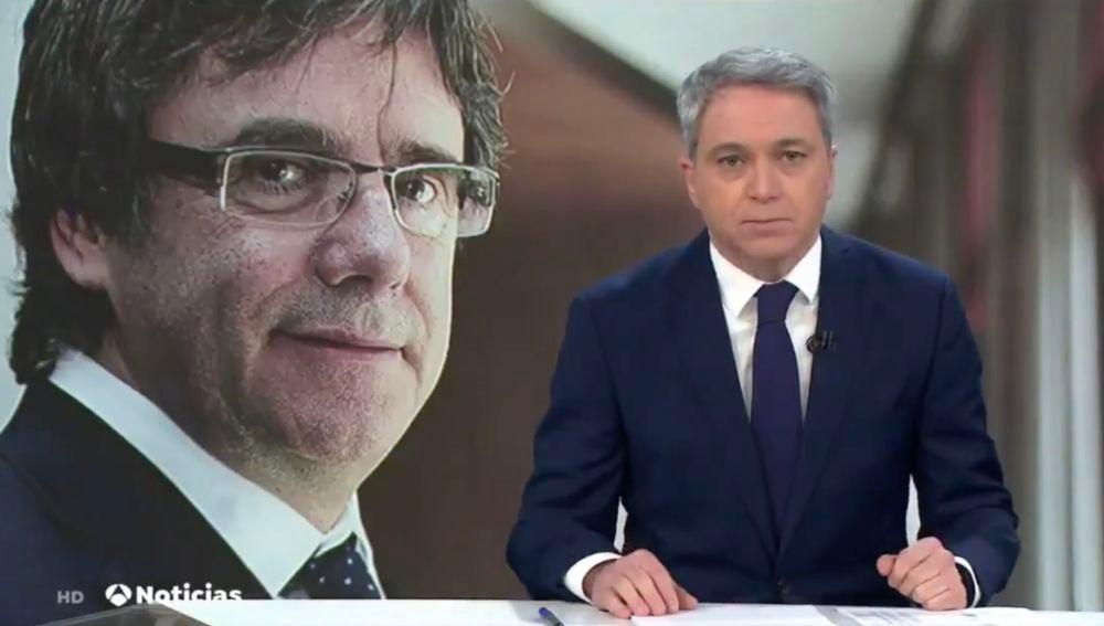 Vicente Vallés desmonta los sueños incumplidos del 'fugado Puigdemont'