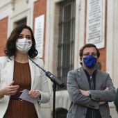 La presidenta de la Comunidad de Madrid, Isabel Díaz Ayuso, y el alcalde de la capital, José Luis Martínez-Almeida