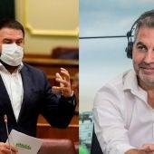 El diputado de Bildu Jon Iñarritu y Carlos Alsina