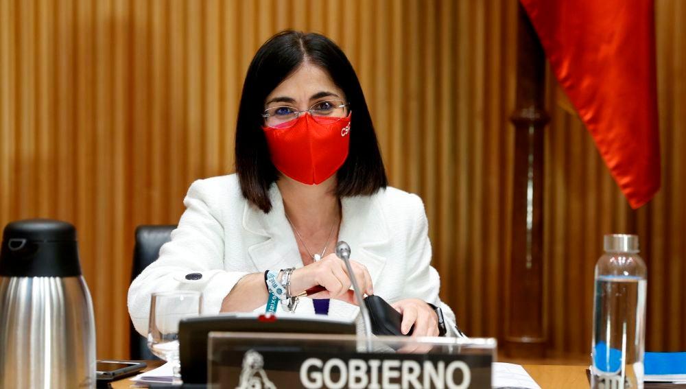 Carolina Darias, durante una Comisión en el Congreso de los Diputados.