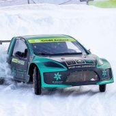 José Antonio Suárez, 'Cohete', en una prueba sobre hielo en Andorra.
