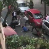 Captura del video del momento del apuñalamiento