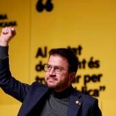 El candidato de ERC a la presidencia de la Generalitat, Pere Aragonès.