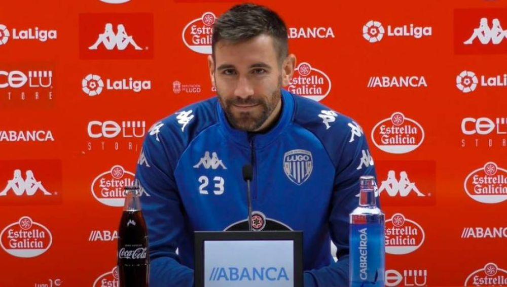 El central del Lugo repasó la actualidad deportiva y analizó el choque contra el Logroñés.