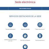 Acceso a la sede electrónica del Ayuntamiento de Elche.