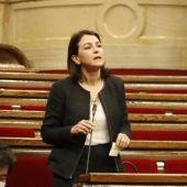 Eva Granados, en una intervenció al Parlament