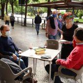 Las terrazas vuelven a trabajar al cien por cien con seis personas por mesa