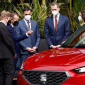 Plantón de la Generalitat al Rey Felipe VI y Pedro Sánchez en la visita a SEAT
