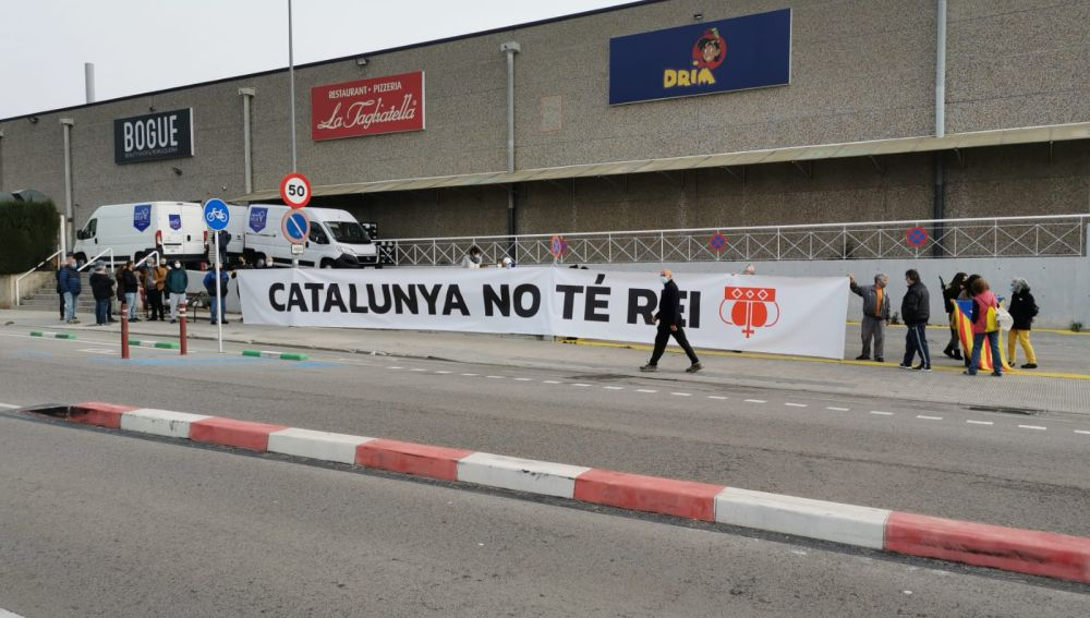 Manifestación frente a la planta de SEAT en Martorell