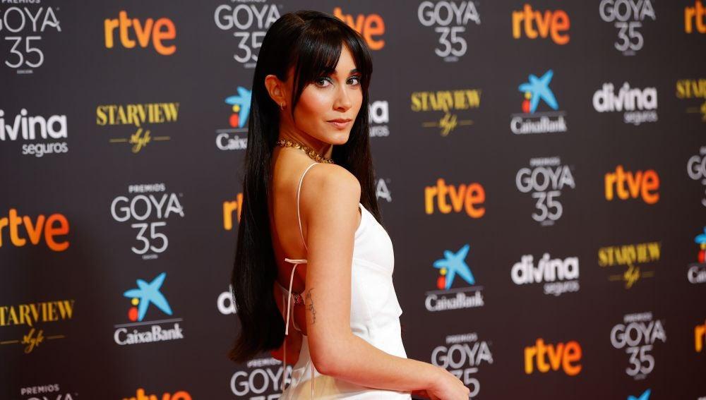 Aitana Ocaña, en los Goya 2021.