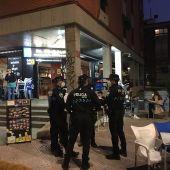 Control de la Policía Local en una terraza de Ciudad Real