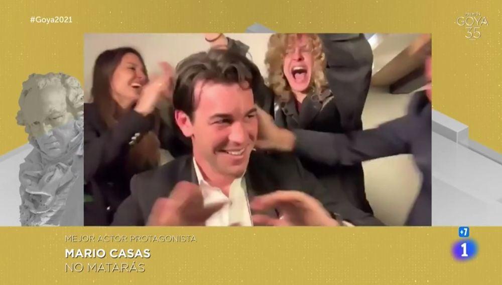 Mario Casas, en los Goya 2021.