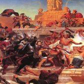 Hernán Cortés i les seves conquestes militars.