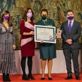 Manuela Simón ha sido una de las galardonadas en el acto de la Junta