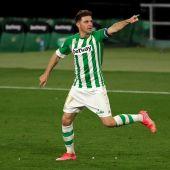 Joaquín en su gol ante el Alavés