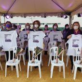 La delegada de Igualdad, Adela Castaño, en un acto contra la violencia de género