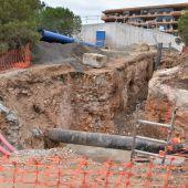 Obras depósito de agua en Arenales del Sol de Elche.