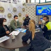 La Policía Local de Sagunto participa en el primer simulacro de tsunami que afecta al Mediterráneo central