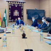 Instantes de la reunión en la Subdelegación del Gobierno de Cádiz