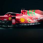 El Ferrari SF21 de Carlos Sainz y Charles Leclerc