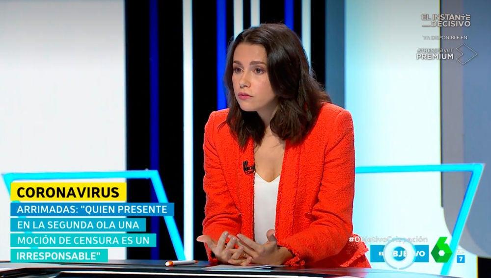 Inés Arrimadas en El Objetivo de La Sexta