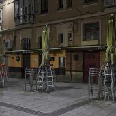 Terraza vacía en Santander