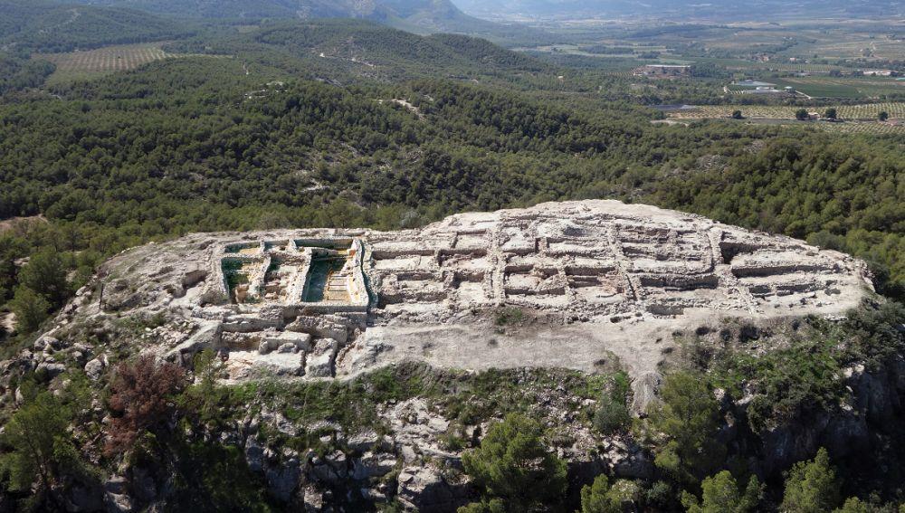Vista aérea del asentamiento La Almoloya