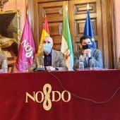 El delegado de Turismo Antonio Muñoz en la reunión mantenida ayer en el Ayuntamiento de Sevilla