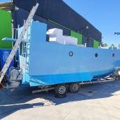 Intervienen el primer narcosubmarino de España en una nave de Málaga