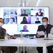 Imagen de la reunión de hoy