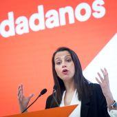 Inés Arrimadas, tras la Junta de Ciudadanos.