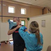 Vacunación bomberos de Segovia