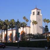 Imagen de archivo de la fachada de Union Station, la estación de trenes de Los Ángeles inaugurada en 1939