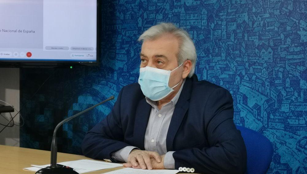 Juan José Pérez del Pino, concejal de Seguridad Ciudadana, en rueda de prensa
