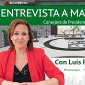 Entrevista a Mayte Pérez, consejera de Presidencia del Gobierno de Aragón