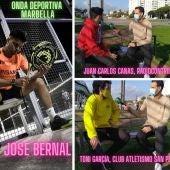 José Bernal, Juan Carlos Canas y Toni García