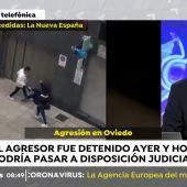 El abogado agredido en Oviedo pedirá orden de alejamiento contra su agresor