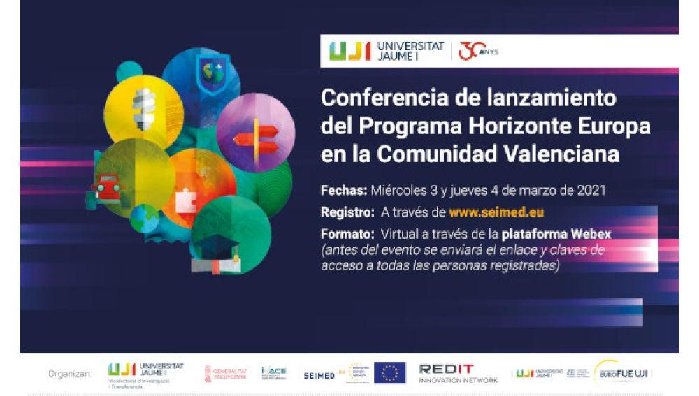 Conferencia de lanzamiento del Programa Horizonte Europa en la Comunidad Valenciana