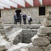 Visita de Adrián Barbón a las obras del Edificio Tabacalera en Gijón