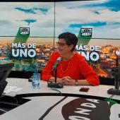González Laya durante la entrevista en Más de un con Óscar Plaza