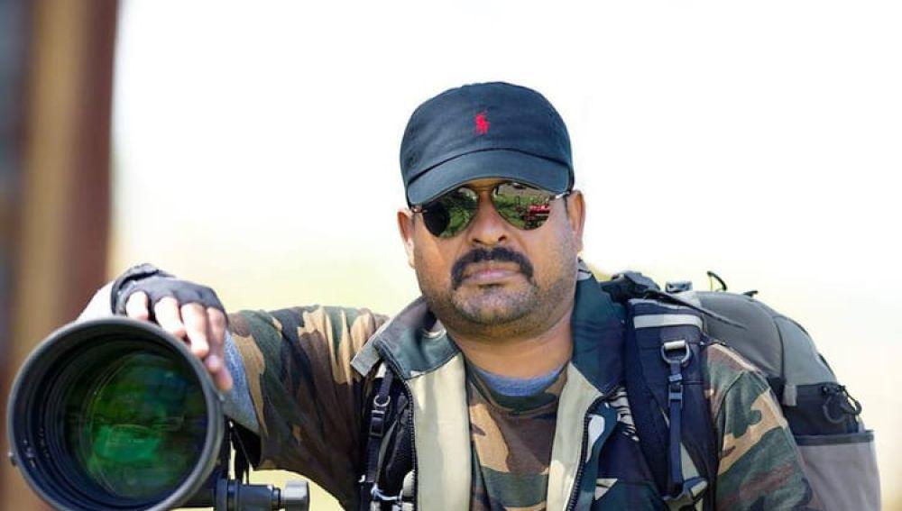 Thomas Vijayan con su cámara