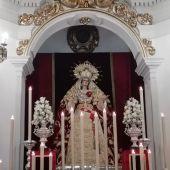 La Virgen de la Amargura en el altar mayor de la Ermita de Zamarilla