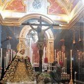 El Cristo de Mena y la Virgen de la Soledad en la Iglesia de Santo Domingo