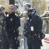 Alrededores del Capitolio tras el atropello a dos policías