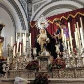La Virgen de la O y el Cristo de los Gitanos de Málaga en la Iglesia de San Juan